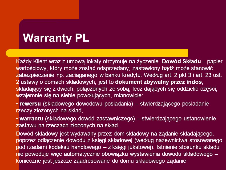 Warranty PL