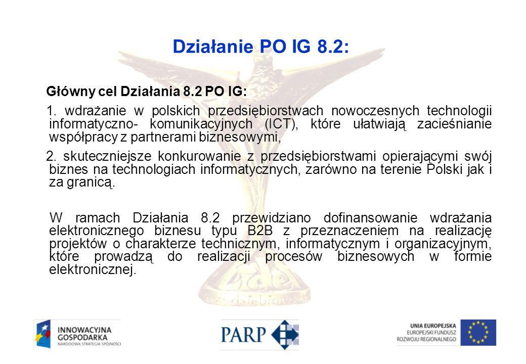 Działanie PO IG 8.2: Główny cel Działania 8.2 PO IG: