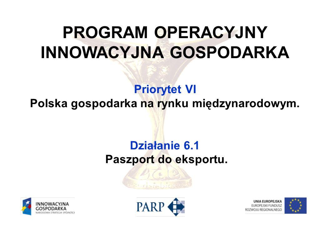 INNOWACYJNA GOSPODARKA Polska gospodarka na rynku międzynarodowym.
