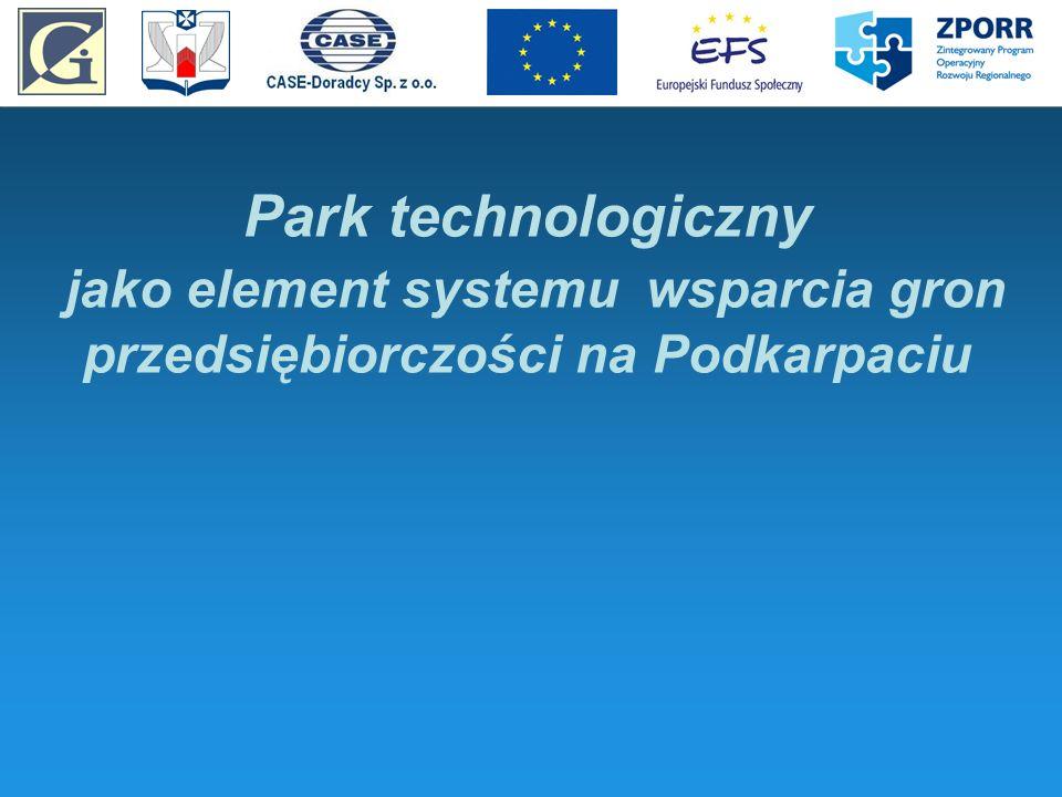 Park technologiczny jako element systemu wsparcia gron przedsiębiorczości na Podkarpaciu