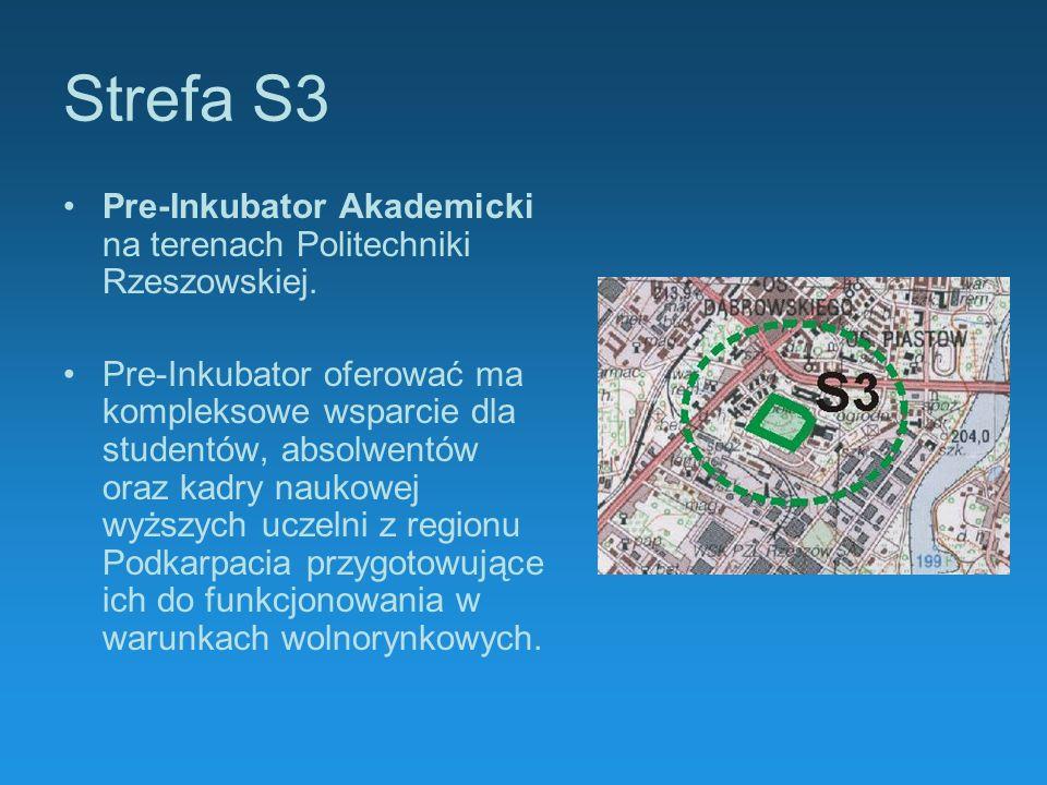 Strefa S3Pre-Inkubator Akademicki na terenach Politechniki Rzeszowskiej.