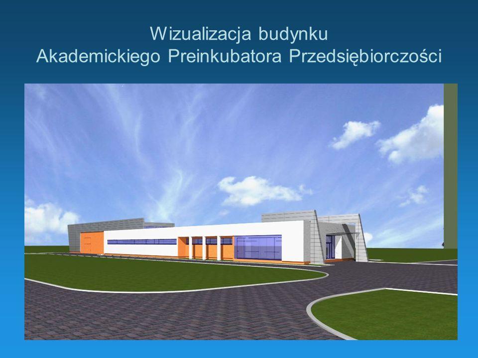 Wizualizacja budynku Akademickiego Preinkubatora Przedsiębiorczości