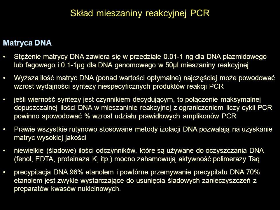 Skład mieszaniny reakcyjnej PCR