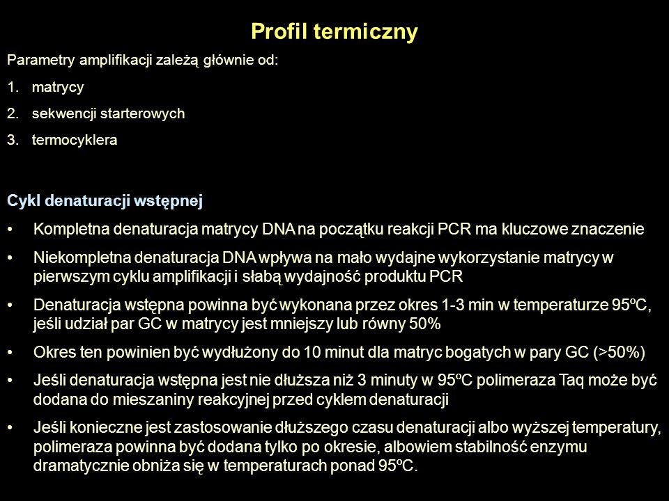 Profil termiczny Cykl denaturacji wstępnej
