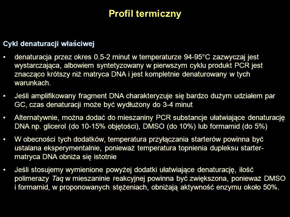 Profil termiczny Cykl denaturacji właściwej