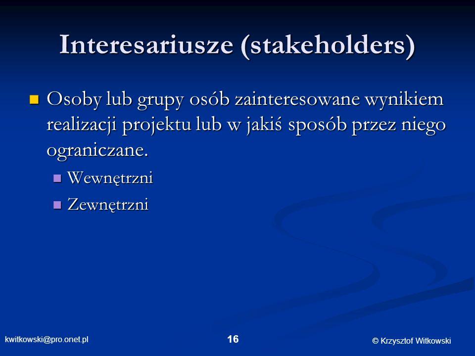 Interesariusze (stakeholders)