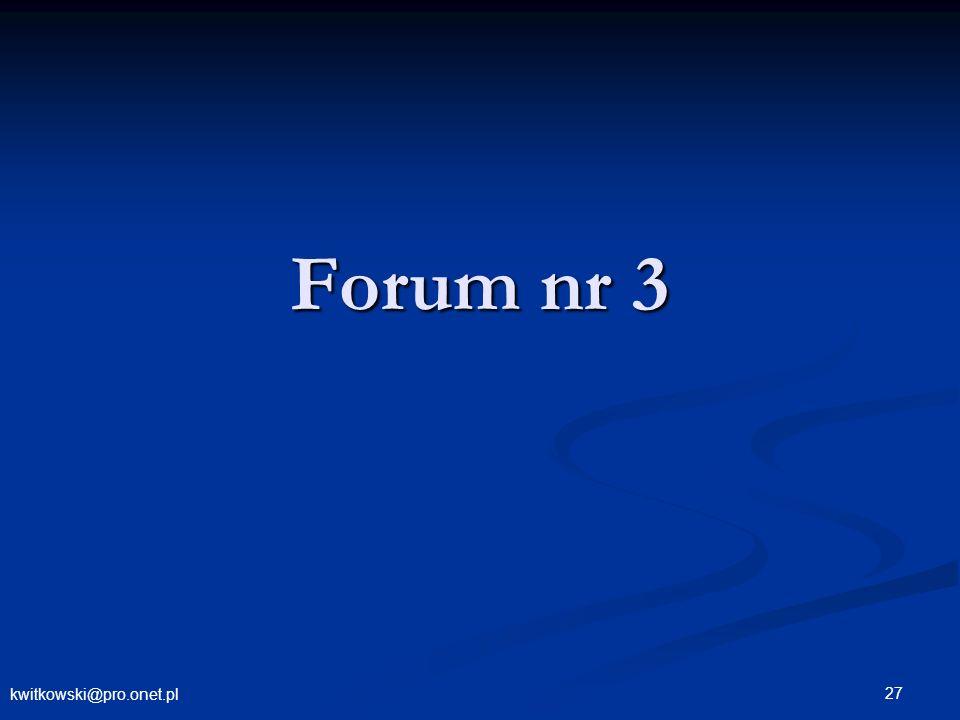 Forum nr 3 kwitkowski@pro.onet.pl