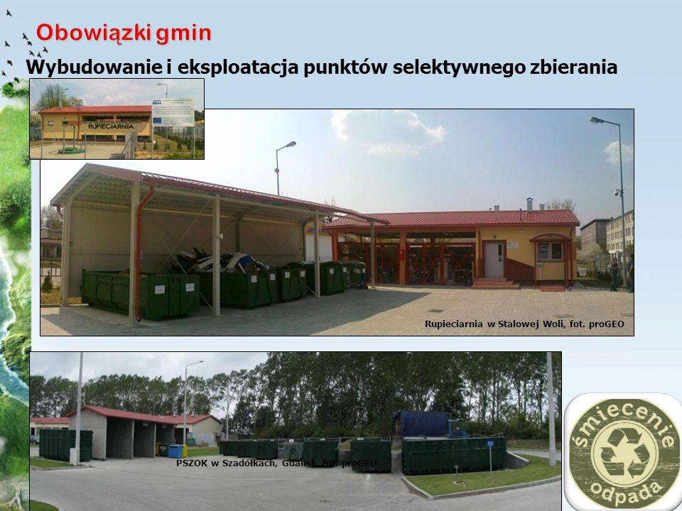Obowiązki gmin Wybudowanie i eksploatacja punktów selektywnego zbierania odp. kom. Rupieciarnia w Stalowej Woli, fot. proGEO.