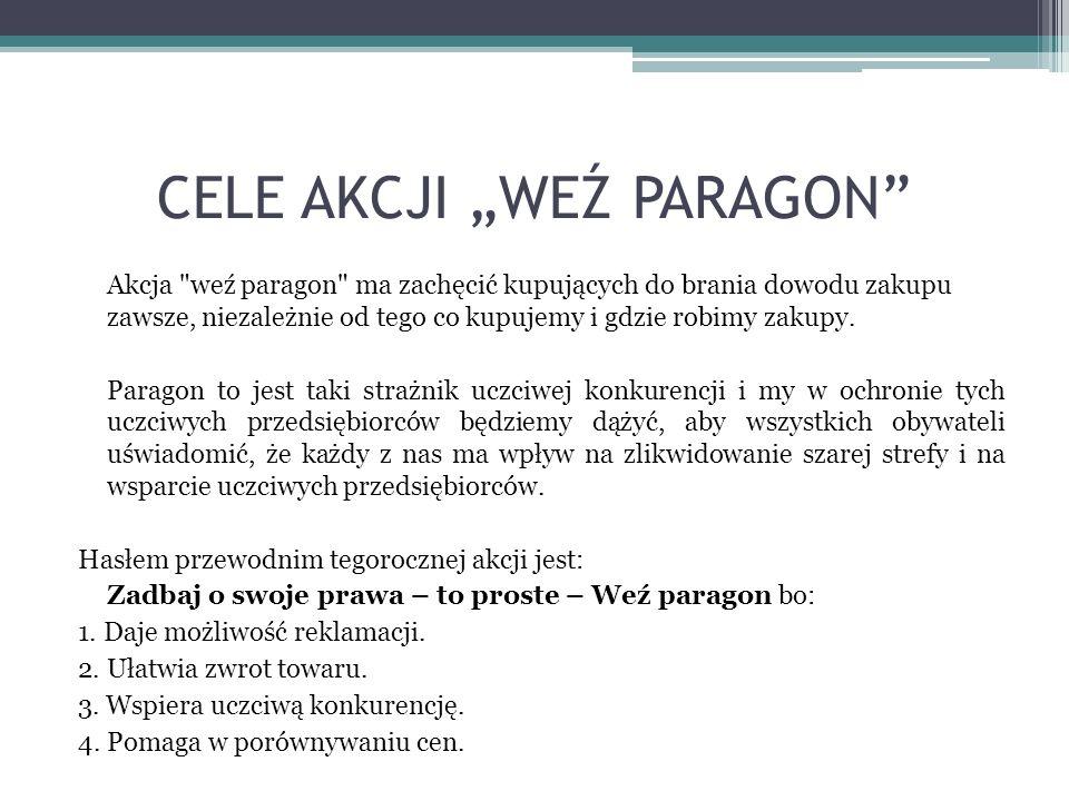 """CELE AKCJI """"WEŹ PARAGON"""