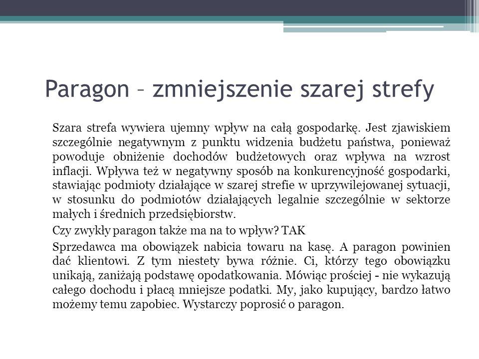 Paragon – zmniejszenie szarej strefy
