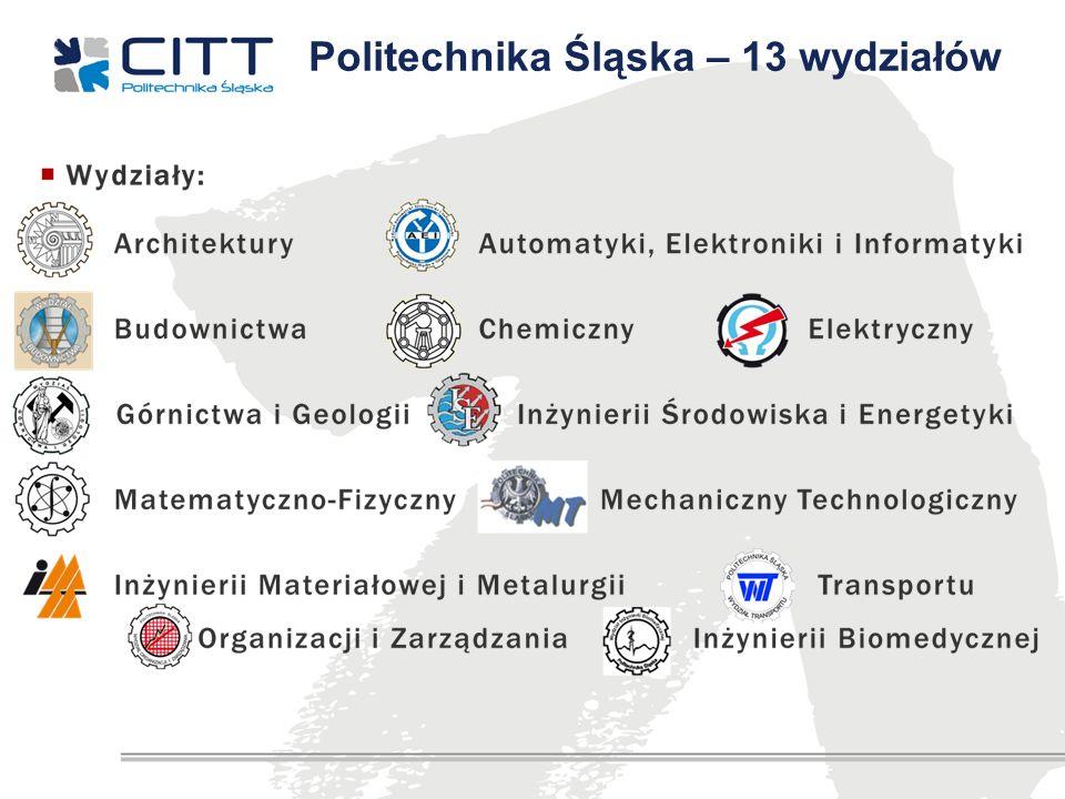 Politechnika Śląska – 13 wydziałów