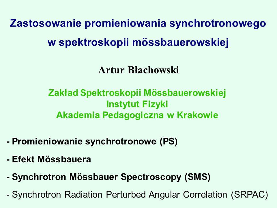 Zakład Spektroskopii Mössbauerowskiej Akademia Pedagogiczna w Krakowie