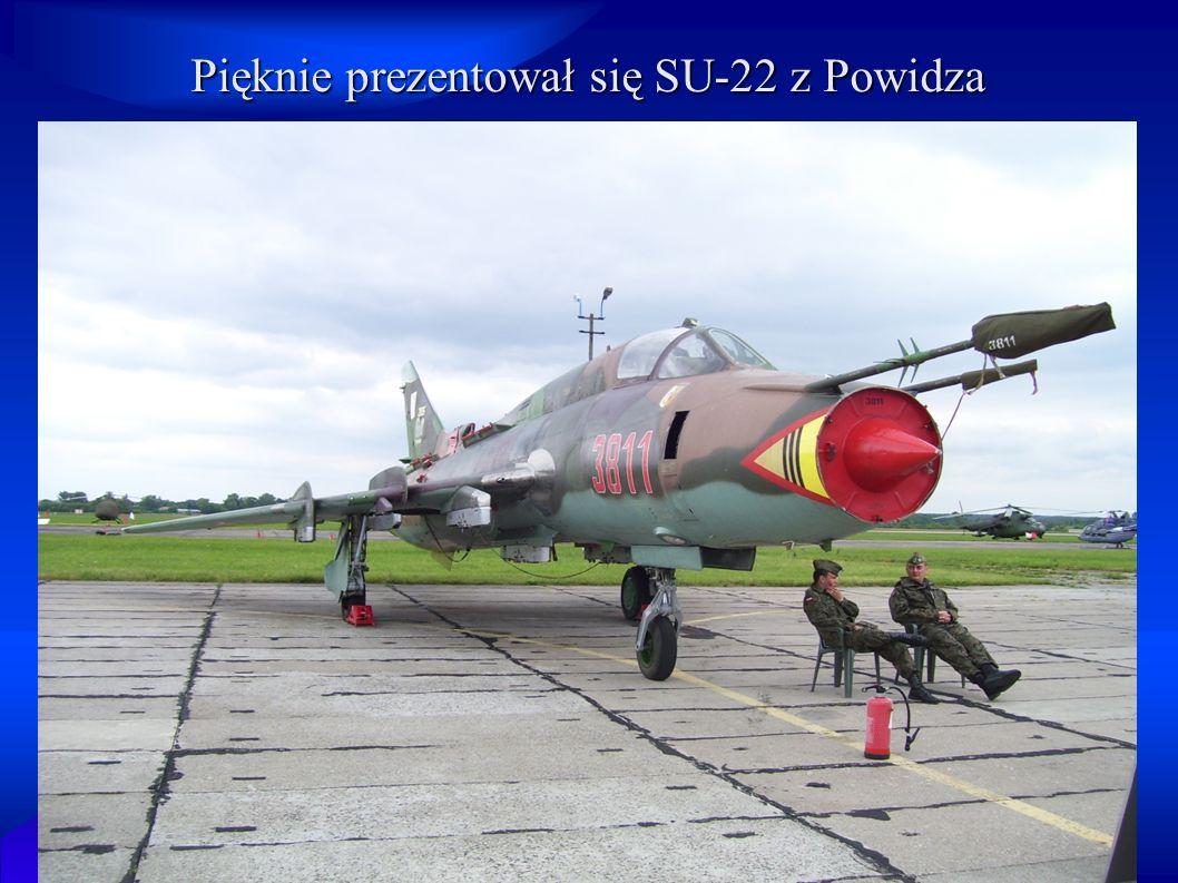 Pięknie prezentował się SU-22 z Powidza