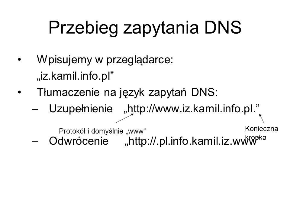 Przebieg zapytania DNS