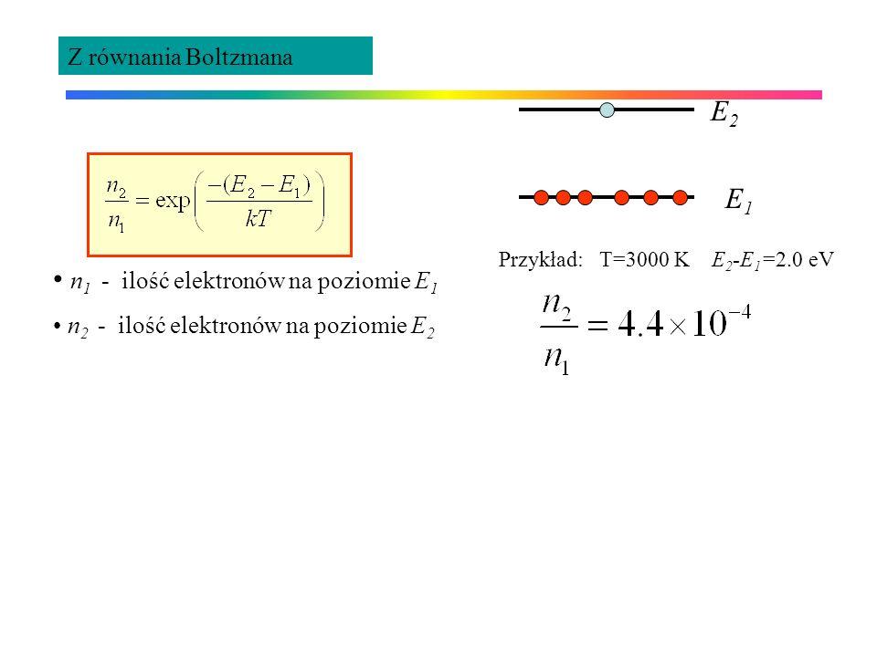 n1 - ilość elektronów na poziomie E1