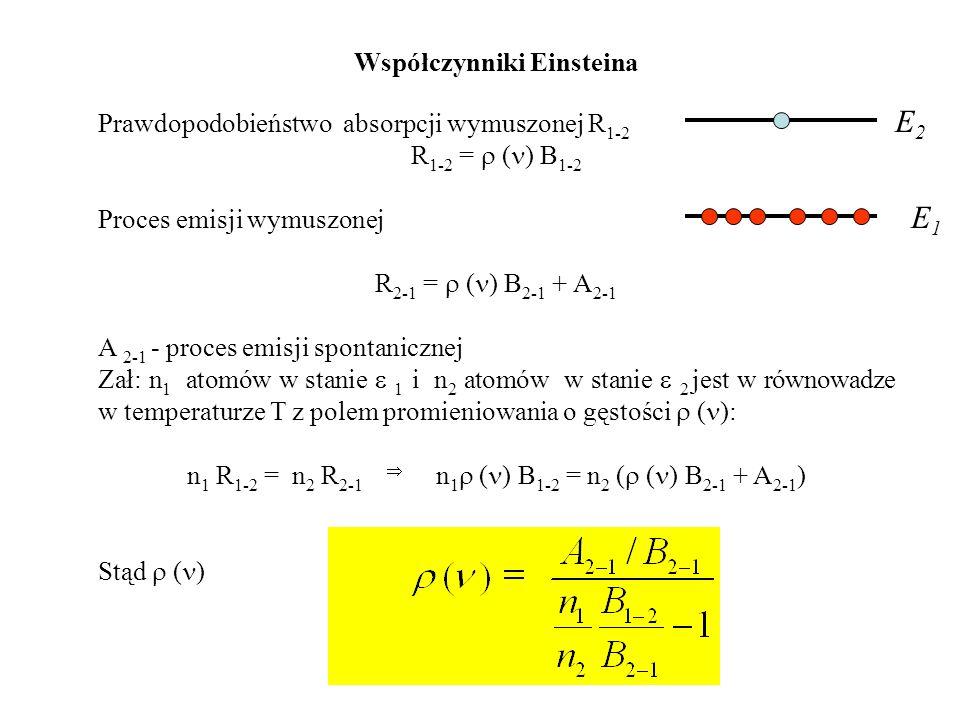 E2 E1 Współczynniki Einsteina