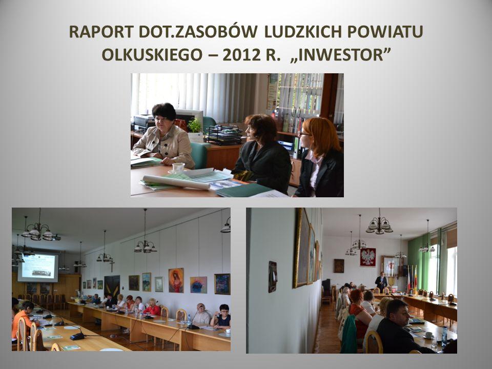 """RAPORT DOT.ZASOBÓW LUDZKICH POWIATU OLKUSKIEGO – 2012 R. """"INWESTOR"""