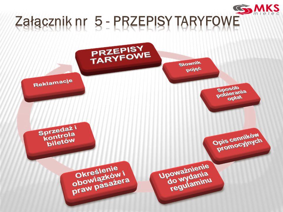 Załącznik nr 5 - PRZEPISY TARYFOWE