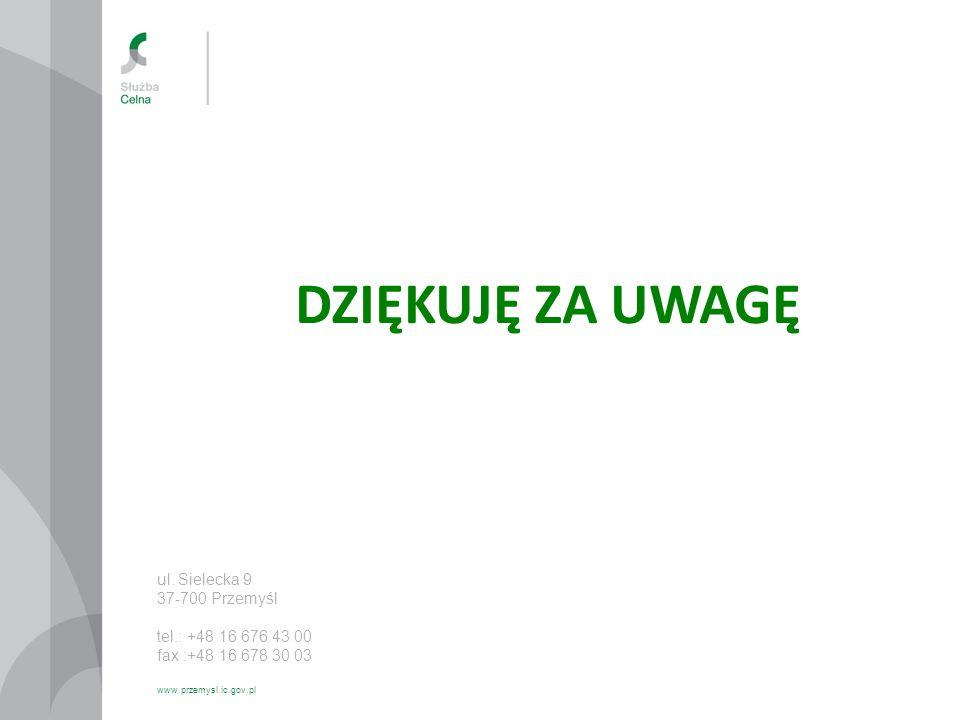 DZIĘKUJĘ ZA UWAGĘ ul. Sielecka 9 37-700 Przemyśl