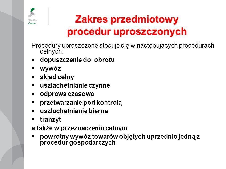 procedur uproszczonych