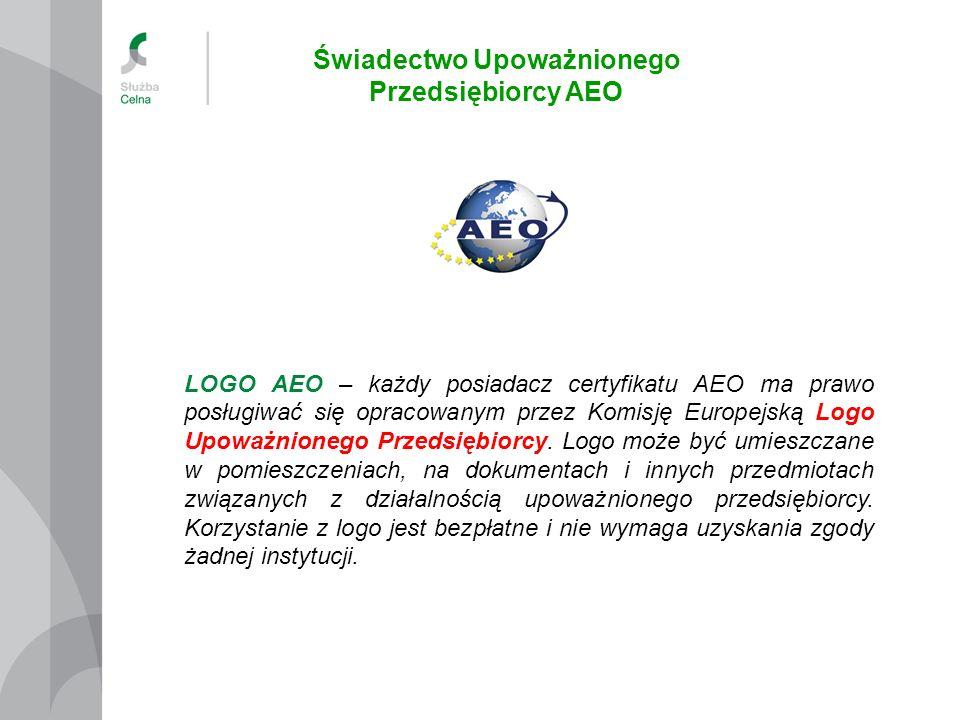 Świadectwo Upoważnionego Przedsiębiorcy AEO