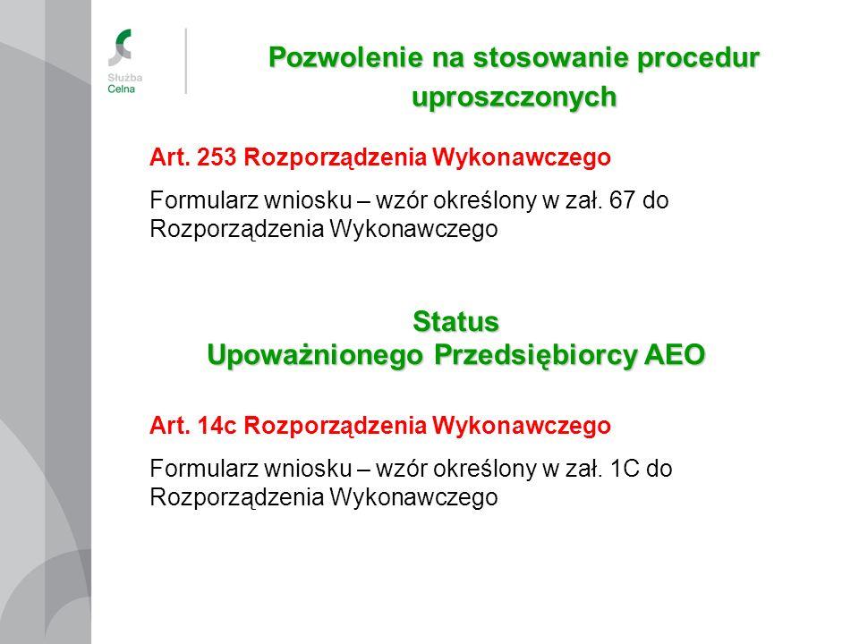 Pozwolenie na stosowanie procedur uproszczonych