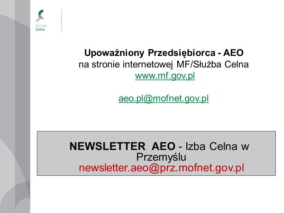 Upoważniony Przedsiębiorca - AEO