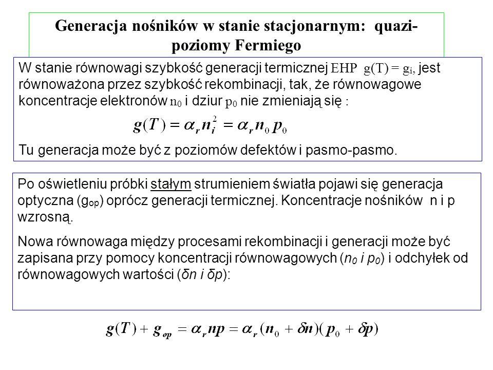 Generacja nośników w stanie stacjonarnym: quazi-poziomy Fermiego