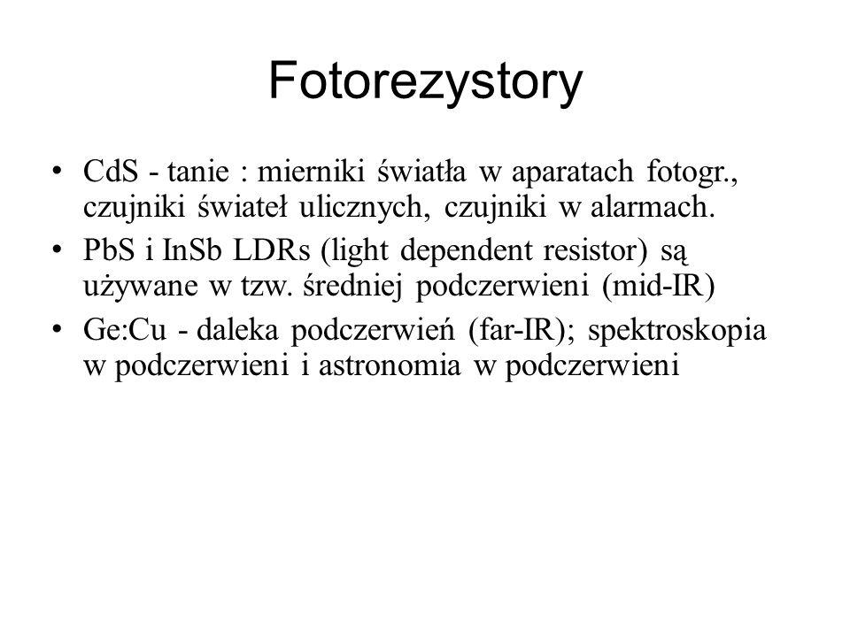 FotorezystoryCdS - tanie : mierniki światła w aparatach fotogr., czujniki świateł ulicznych, czujniki w alarmach.