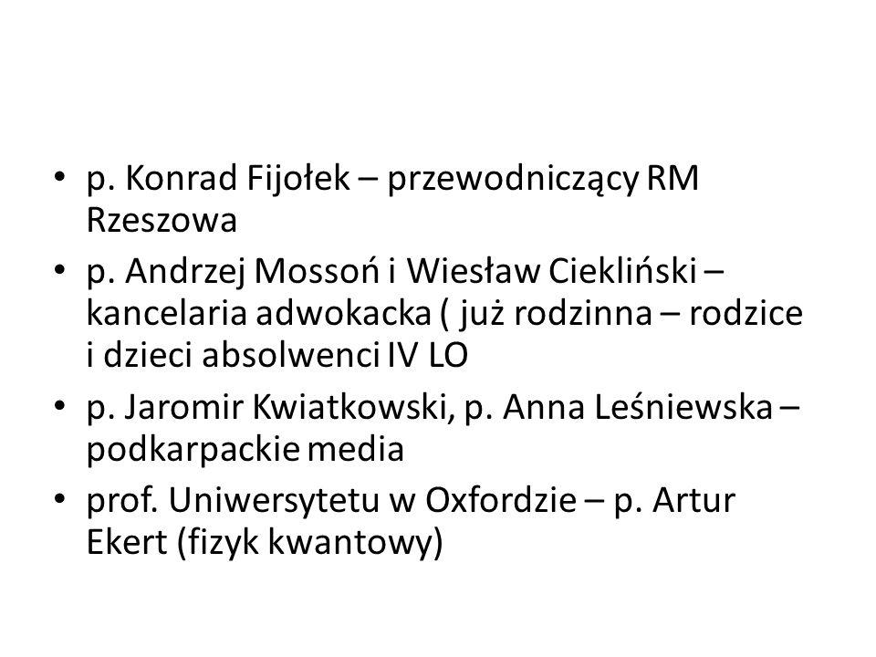 p. Konrad Fijołek – przewodniczący RM Rzeszowa
