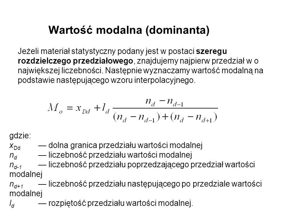 Wartość modalna (dominanta)