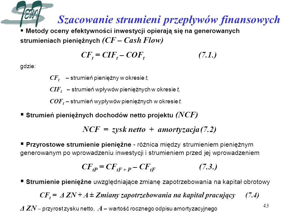 Szacowanie strumieni przepływów finansowych