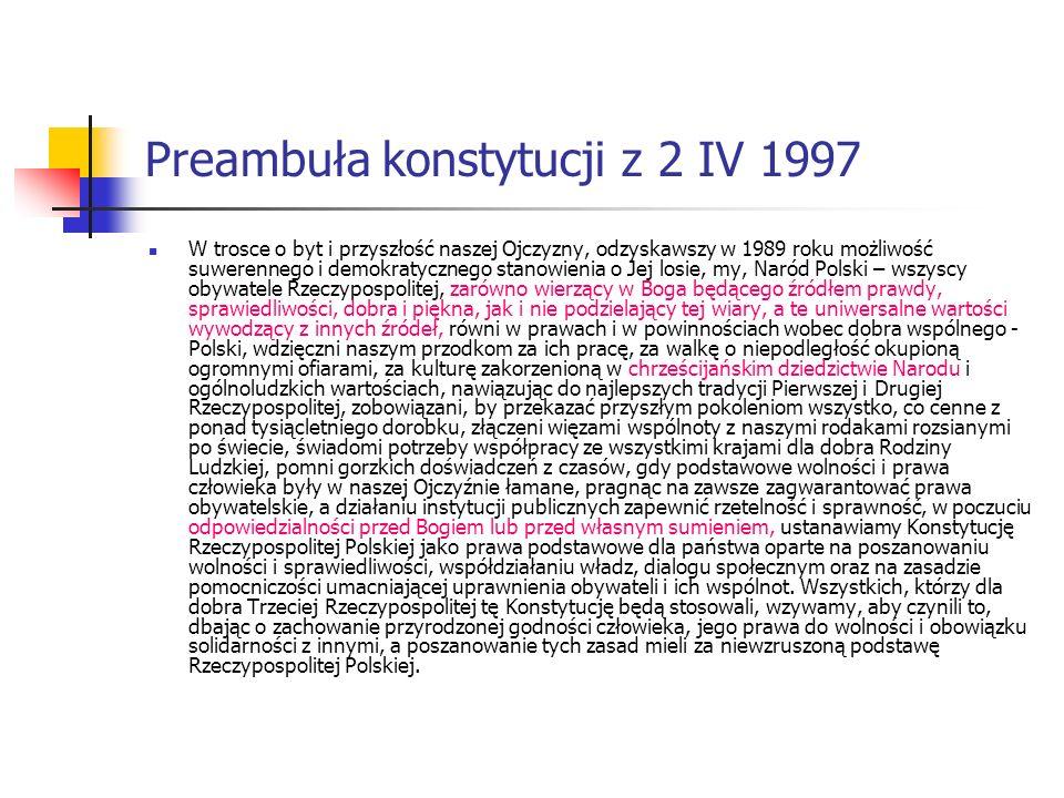 Preambuła konstytucji z 2 IV 1997