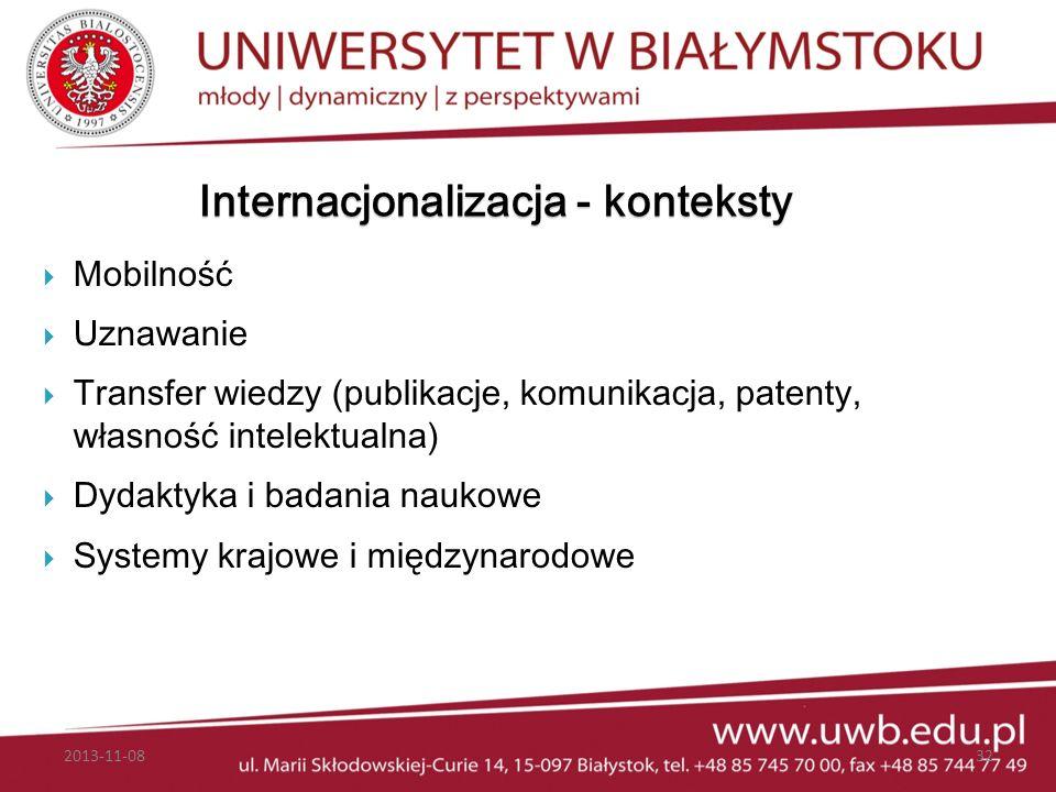 Internacjonalizacja - konteksty