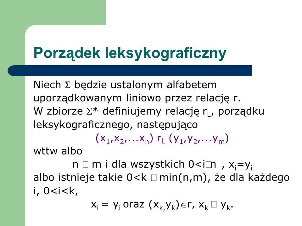 Porządek leksykograficzny