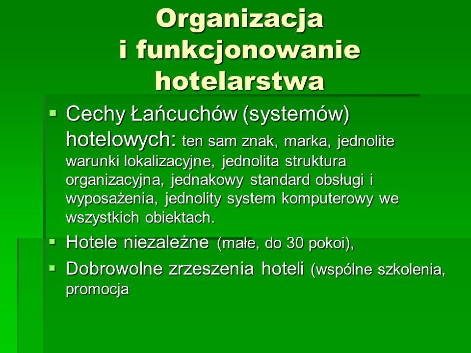 Organizacja i funkcjonowanie hotelarstwa
