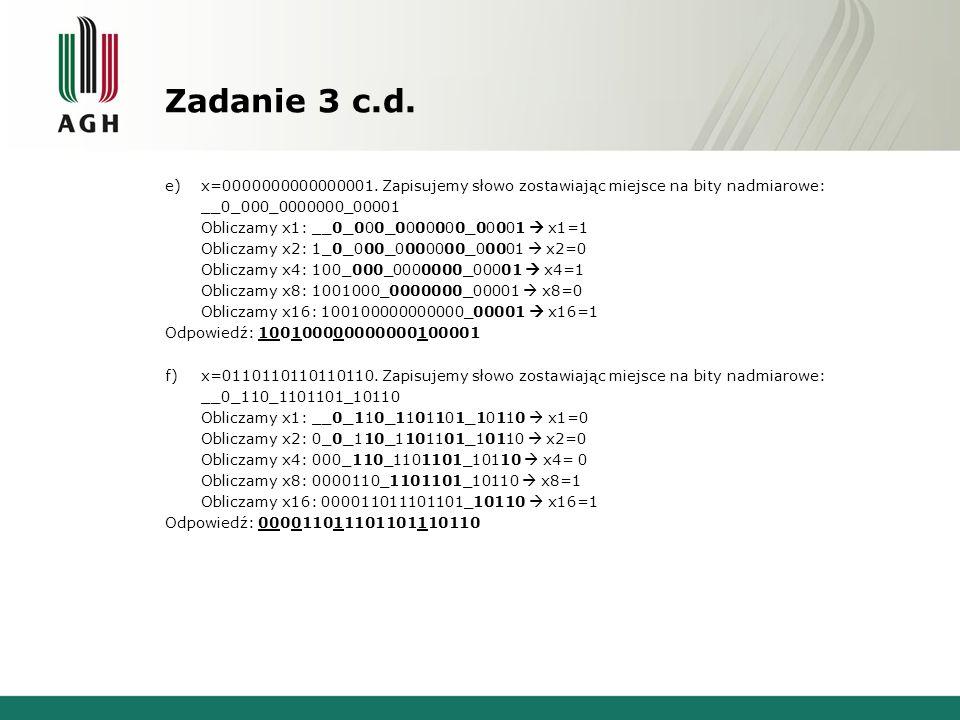 Zadanie 3 c.d.