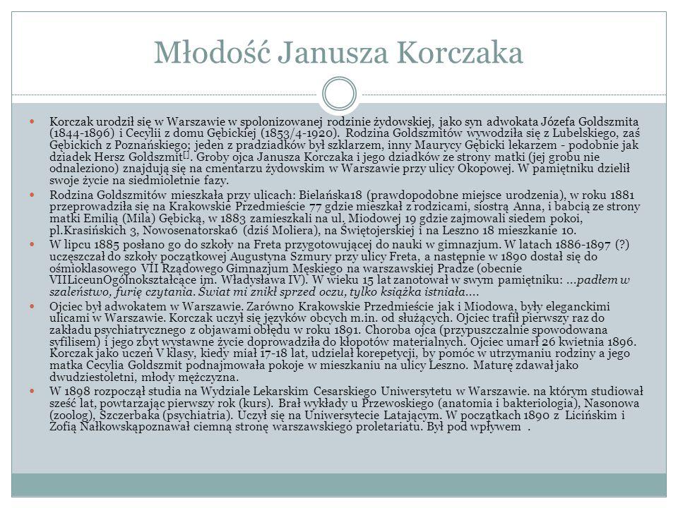 Młodość Janusza Korczaka