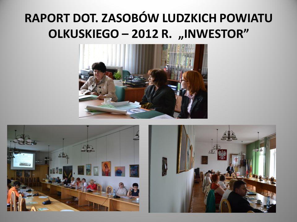 """RAPORT DOT. ZASOBÓW LUDZKICH POWIATU OLKUSKIEGO – 2012 R. """"INWESTOR"""