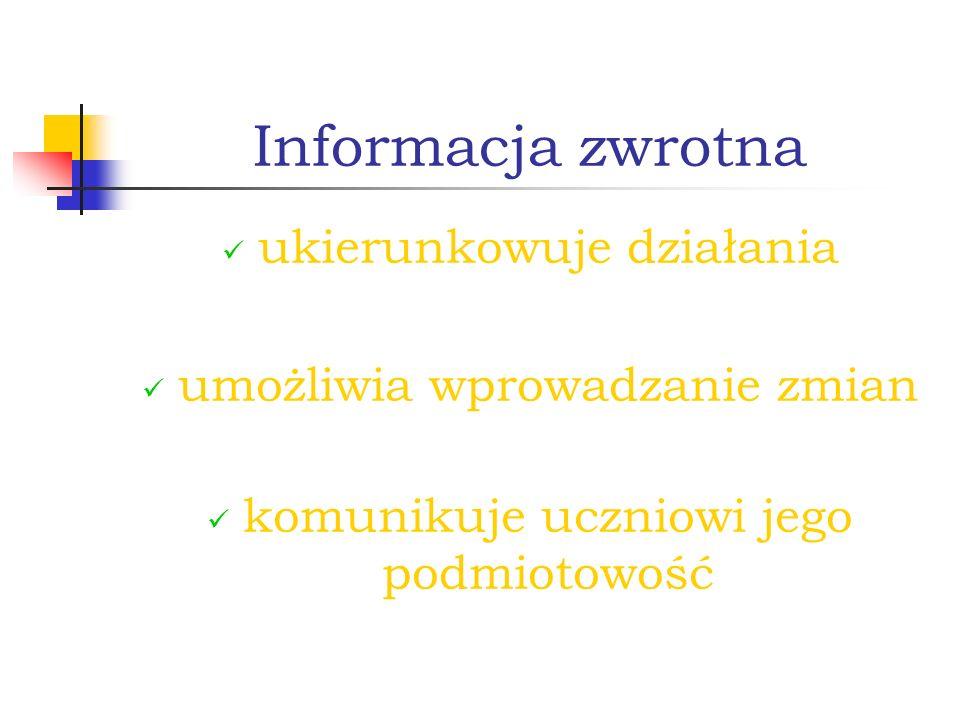 Informacja zwrotna ukierunkowuje działania