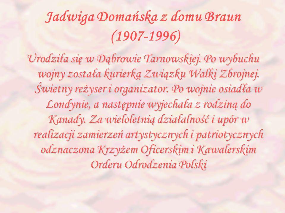 Jadwiga Domańska z domu Braun (1907-1996)