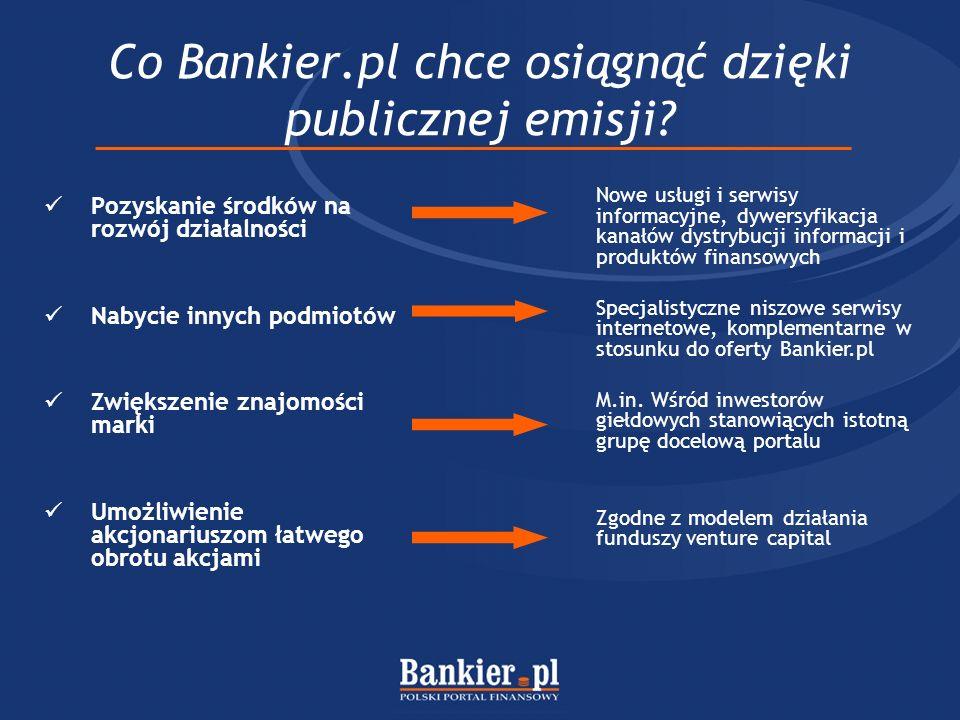 Co Bankier.pl chce osiągnąć dzięki publicznej emisji