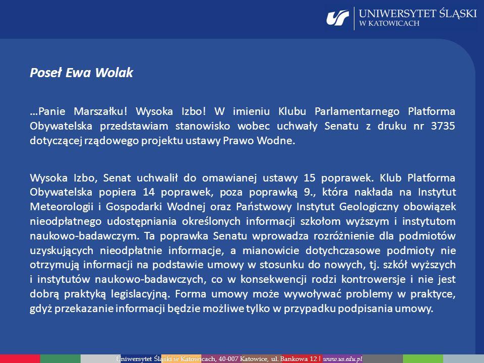 Poseł Ewa Wolak