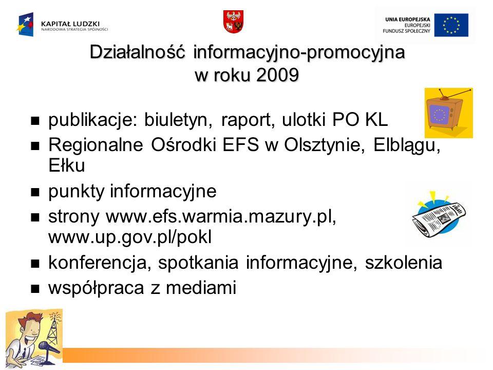 Działalność informacyjno-promocyjna w roku 2009