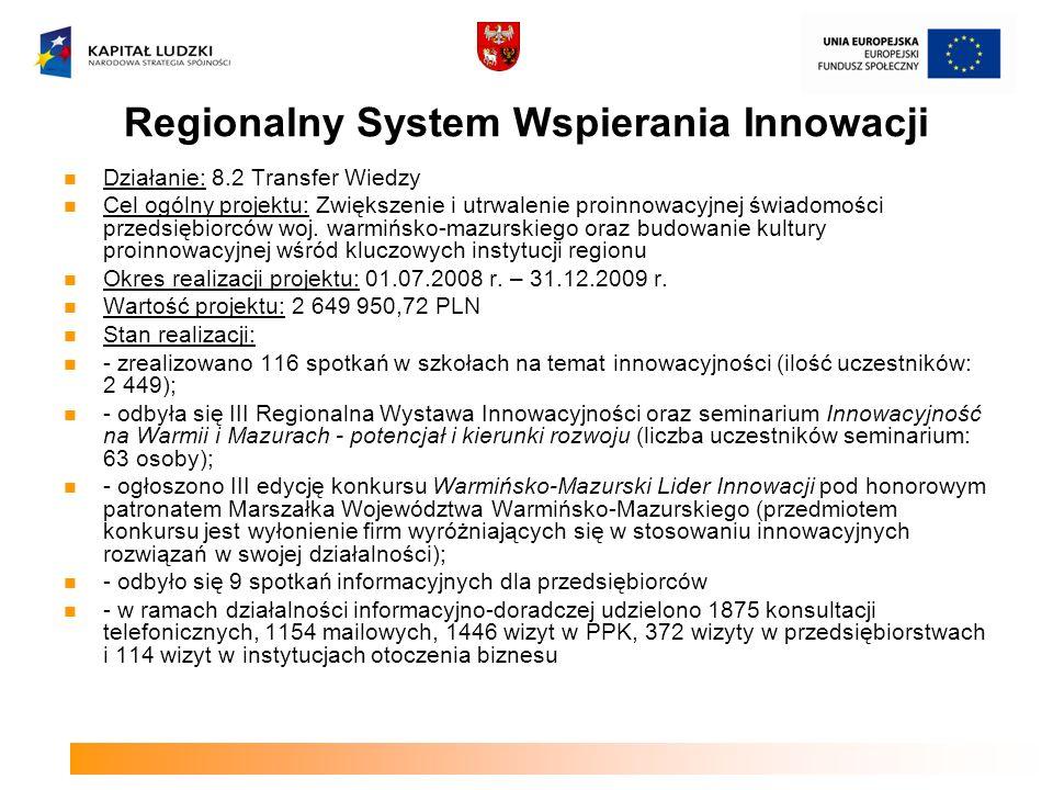 Regionalny System Wspierania Innowacji