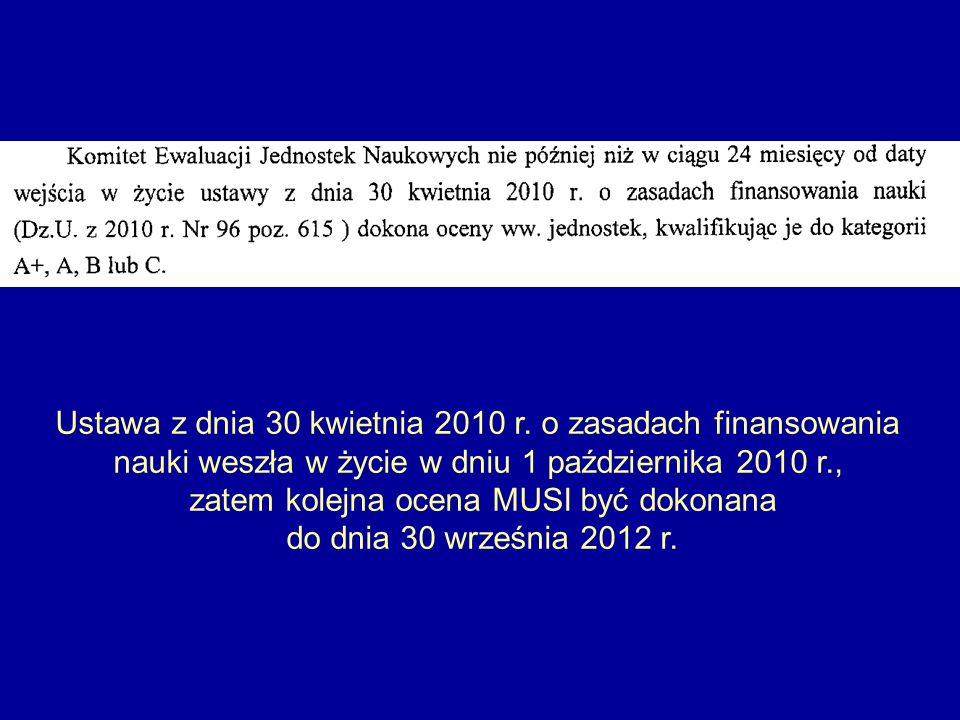 Ustawa z dnia 30 kwietnia 2010 r. o zasadach finansowania