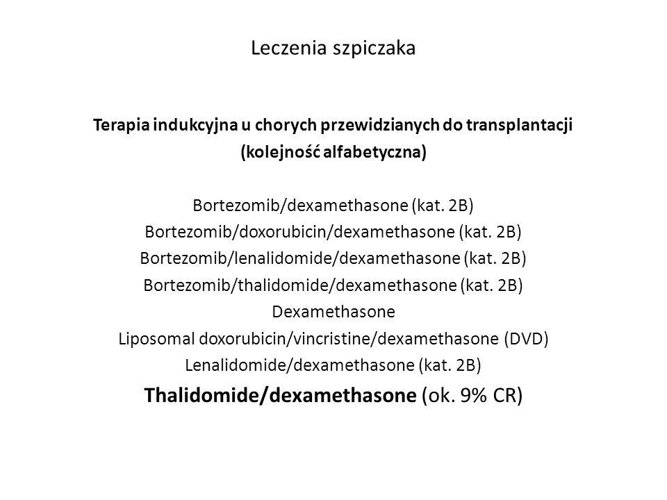 Thalidomide/dexamethasone (ok. 9% CR)