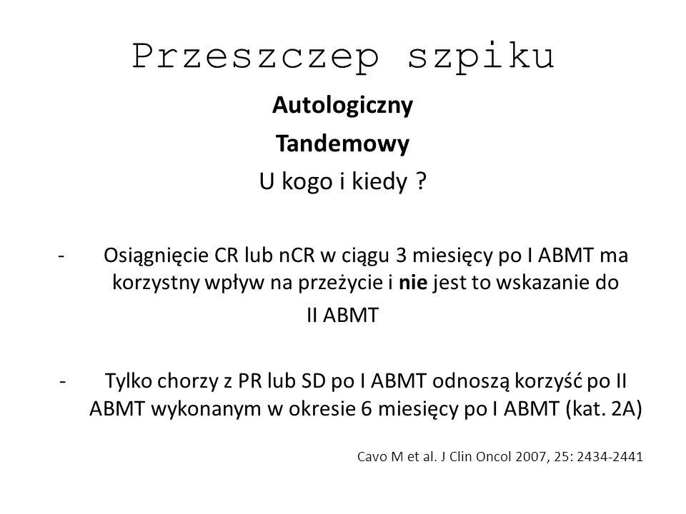 Cavo M et al. J Clin Oncol 2007, 25: 2434-2441