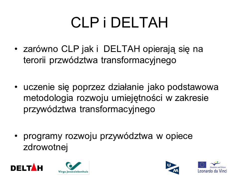 CLP i DELTAH zarówno CLP jak i DELTAH opierają się na terorii przwództwa transformacyjnego.