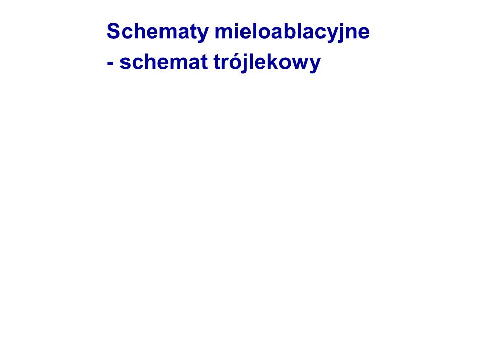 Schematy mieloablacyjne - schemat trójlekowy